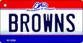 Browns Ohio State License Plate Wholesale Key Chain KC-2056