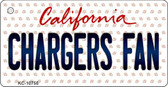 Chargers Fan California State License Plate Wholesale Key Chain KC-10755