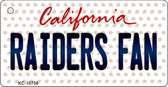 Raiders Fan California State License Plate Wholesale Key Chain KC-10756