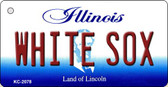 White Sox Illinois State License Plate Wholesale Key Chain KC-2078