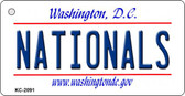 Nationals Washington DC State License Plate Wholesale Key Chain KC-2091