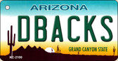 Dbacks Arizona State License Plate Wholesale Key Chain KC-2100