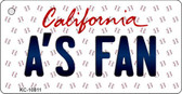 A's Fan California State License Plate Wholesale Key Chain KC-10811