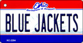 Blue Jackets Ohio State License Plate Wholesale Key Chain KC-2294