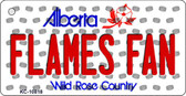 Flames Fan Alberta State License Plate Wholesale Key Chain KC-10818