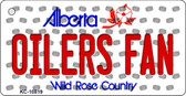 Oilers Fan Alberta State License Plate Wholesale Key Chain KC-10819