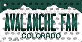 Avalanche Fan Colorado State License Plate Wholesale Key Chain KC-10828