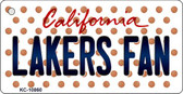 Lakers Fan California State License Plate Wholesale Key Chain KC-10860