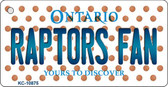 Raptors Fan Ontario State License Plate Wholesale Key Chain KC-10875