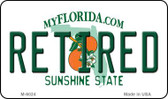 Retired Florida State License Plate Wholesale Magnet M-6024