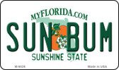 Sun Bum Florida State License Plate Wholesale Magnet M-6026