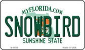 Snowbird Florida State License Plate Wholesale Magnet M-6034