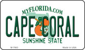 Cape Coral Florida State License Plate Wholesale Magnet M-7983