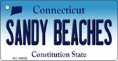 Sandy Beaches Connecticut State License Plate Wholesale Key Chain KC-10929