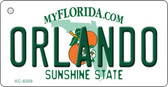Orlando Florida State License Plate Wholesale Key Chain KC-6006