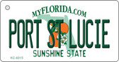 Port St Lucie Florida State License Plate Wholesale Key Chain KC-6015