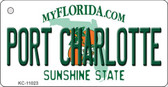 Port Charlotte Florida State License Plate Wholesale Key Chain KC-11023