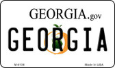 Georgia State License Plate Novelty Wholesale Magnet M-6136