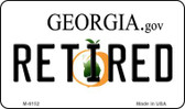 Retired Georgia State License Plate Novelty Wholesale Magnet M-6152