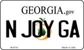 N Joy GA Georgia State License Plate Novelty Wholesale Magnet M-6155