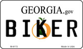 Biker Georgia State License Plate Novelty Wholesale Magnet M-6172