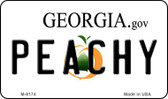 Peachy Georgia State License Plate Novelty Wholesale Magnet M-6174