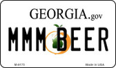 MMM Beer Georgia State License Plate Novelty Wholesale Magnet M-6175
