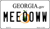 Meeooww Georgia State License Plate Novelty Wholesale Magnet M-6178
