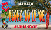 Aloha au ia'oe Tiki Novelty Wholesale Metal Magnet M-7825