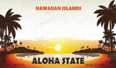 Blank Hawaiian Islands Novelty Wholesale Metal Magnet M-7835