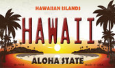 Hawaiian Islands Novelty Wholesale Metal Magnet M-7836