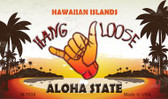 Hang Loose Hawaiian Islands Novelty Wholesale Metal Magnet M-7838