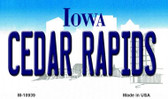 Cedar Rapids Iowa State License Plate Novelty Wholesale Magnet M-10939