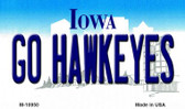 Go Hawkeyes Iowa State License Plate Novelty Wholesale Magnet M-10950