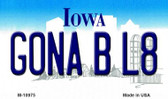 Gona B L8 Iowa State License Plate Novelty Wholesale Magnet M-10975
