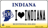 I Love Indiana State License Plate Novelty Wholesale Magnet M-6395