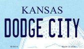 Dodge City Kansas State License Plate Novelty Wholesale Magnet M-6614