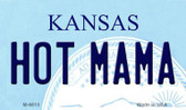 Hot Mama Kansas State License Plate Novelty Wholesale Magnet M-6615