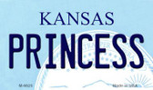 Princess Kansas State License Plate Novelty Wholesale Magnet M-6625