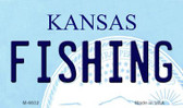 Fishing Kansas State License Plate Novelty Wholesale Magnet M-6632