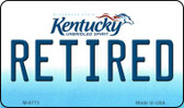 Retired Kentucky State License Plate Novelty Wholesale Magnet M-6773