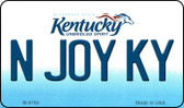N Joy KY Kentucky State License Plate Novelty Wholesale Magnet M-6780