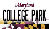 College Park Maryland State License Plate Wholesale Magnet