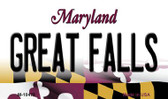 Great Falls Maryland State License Plate Wholesale Magnet