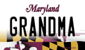 Grandma Maryland State License Plate Wholesale Magnet