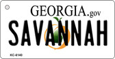 Savannah Georgia State License Plate Novelty Wholesale Key Chain KC-6140