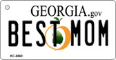 Best Mom Georgia State License Plate Novelty Wholesale Key Chain KC-6660