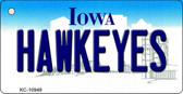 Hawkeyes Iowa State License Plate Novelty Wholesale Key Chain KC-10949