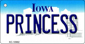 Princess Iowa State License Plate Novelty Wholesale Key Chain KC-10962
