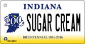 Sugar Cream Indiana State License Plate Novelty Wholesale Key Chain KC-6372